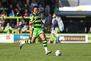 Forest Green Rovers Tahvon Campbell(25) runs forward during the EFL Sky Bet League 2 match between Forest Green Rovers and Chesterfield at the New Lawn, Forest Green, United Kingdom on 21 April 2018. Picture by Shane Healey.
