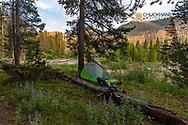 Campsite in the Bob Marshall Wilderness, Montana, USA