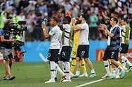 Kylian Mbappe, Antoine Griezmann of France and Team after the 2018 FIFA World Cup Russia, Group C football match between Denmark and France on June 26, 2018 at Luzhniki Stadium in Moscow, Russia- Photo Tarso Sarraf / FramePhoto / ProSportsImages / DPPI