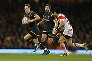 Liam Williams of Wales makes a break. Under Armour 2016 series international rugby, Wales v Japan at the Principality Stadium in Cardiff , South Wales on Saturday 19th November 2016. pic by Andrew Orchard, Andrew Orchard sports photography