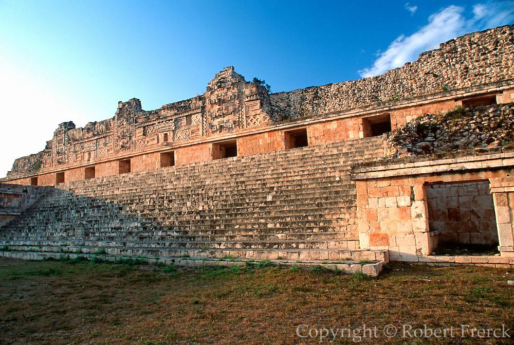 MEXICO, MAYAN, YUCATAN Uxmal, north side, Nunnery Quadrangle