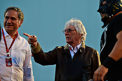 Bernie Ecclestone (GBR) with a Mexican wrestler (Right).<br /> 27.10.2016. Formula 1 World Championship, Rd 19, Mexican Grand Prix, Mexico City, Mexico, Preparation Day.<br />  <br /> / 271016 / action press