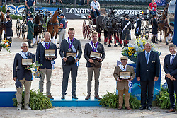 Team BEL, Degrieck Dries, Geerts Glenn, Simonet Edouard<br /> World Equestrian Games - Tryon 2018<br /> © Hippo Foto - Dirk Caremans<br /> 23/09/2018