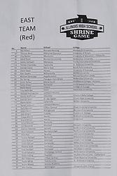 20 June 2015:  Illinois Shriner High School All Stars Football At Tucci Stadium in Bloomington Illinois