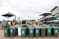 A lot of drunk people at the end of Kennedy Oaks Day races. 08 Nov 2018 Pictured: rubbish bins. Photo credit: Richard Milnes / MEGA TheMegaAgency.com +1 888 505 6342