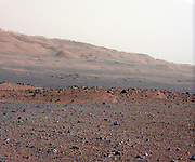 This image is from a series of test images to calibrate the 34-millimeter Mast Camera on NASA's Curiosity rover, looking south-southwest from the rover's landing site.