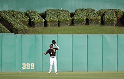 Jun 15, 2018; Pittsburgh, PA, USA; Pittsburgh Pirates center fielder Starling Marte (6) catches a fly ball during the second inning against the Cincinnati Reds at PNC Park. Mandatory Credit: Ben Queen-USA TODAY Sports