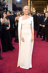Feb. 26, 2012 - Hollywood, California, U.S. - Actress GWYNETH PALTROW arrives wearing white Tom Ford gown accessorized with a cape on the Oscar red carpet at the 84th Academy Awards, The Oscars, in front of Kodak Theatre. (Credit Image: © Michael Goulding/The Orange County Register/ZUMAPRESS.com)