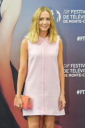June 18, 2018 - Monte Carlo, Monaco - JOANNE FROGGATT of the series 'Liar,' attends a photocall during the 58th Monte Carlo TV Festival in Monte Carlo, Monaco. (Credit Image: © Panoramic via ZUMA Press)