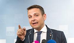 28.05.2014, BZOe Pressesaal, Wien, AUT, BZOe, Pressekonferenz zum Thema: Zukunft des BZOe. im Bild BZOe Obmann Gerald Grosz // BZOe- Chief Gerald Grosz during BZOe press conference about the future of BZOe at BZOe Pressroom in Vienna, Austria on 2014/05/28. EXPA Pictures © 2014, PhotoCredit: EXPA/ Michael Gruber