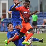 RGV FC's Monday Etim has the ball swept out from under him by Reno 1868 FC's James Kiffe during the second half of their game Wednesday, May 2, 2018, at H-E-B Park in Edinburg. RGV FC ended the game 0-0. photo by Nathan Lambrecht/The Monitor