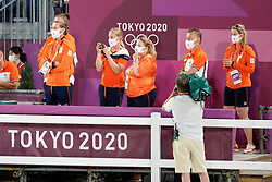 Kiss and Cry, Team Netherlands<br /> Olympic Games Tokyo 2021<br /> © Hippo Foto - Dirk Caremans<br /> 24/07/2021