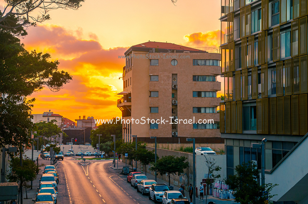 Mediterranean sunset photographed in Jaffa, Israel