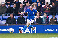 Macclesfield Town midfielder Theo Archibald in action during the EFL Sky Bet League 2 match between Macclesfield Town and Mansfield Town at Moss Rose, Macclesfield, United Kingdom on 16 November 2019.