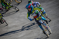 8 Boys #55 (CARDOSO DARRIBA Lucas) BRA at the 2018 UCI BMX World Championships in Baku, Azerbaijan.