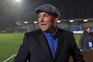 Former Wimbledon player Vinnie Jones smiling during the The FA Cup match between AFC Wimbledon and West Ham United at the Cherry Red Records Stadium, Kingston, England on 26 January 2019.