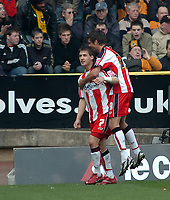 Photo: Kevin Poolman.<br />Wolverhampton Wanderers v Southampton. Coca Cola Championship. 31/03/2007. Rudi Skacel (No.7) celebrates his and Southampton's 2nd goal with Andrew Surman.