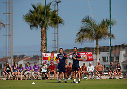 Bristol City coaches Rhys Carr and Jamie McAllister watch over the open training session - Mandatory by-line: Matt McNulty/JMP - 20/07/2017 - FOOTBALL - Tenerife Top Training Centre - Costa Adeje, Tenerife - Pre-Season Training
