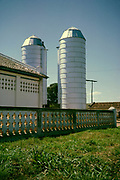Silos on cattle farm, Fazenda Sant' Anna, Campinas, Brazil, South America 1962