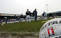Photo: Leigh Quinnell.<br /> Nuneaton Borough v Middlesbrough. The FA Cup.<br /> 07/01/2006. Nuneaton warm up for their FA cup match with Middlesbrough