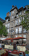 Rennes, FRANCE. General Views GV's. Rennes weekly regional market. Brittany,<br /> Vegetable's, Fruit, Flowers, Fish, Game, Meat, Cheese, local wine and cider, sold from stalls in the open and covered market  <br /> <br /> 09:03:36  Saturday  26/04/2014 <br /> <br />  [Mandatory Credit: Peter Spurrier/Intersport<br /> Images]