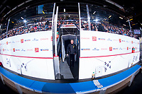 REGINA, SK - MAY 22: Hamilton Bulldogs bench at the Brandt Centre on May 22, 2018 in Regina, Canada. (Photo by Marissa Baecker/CHL Images)