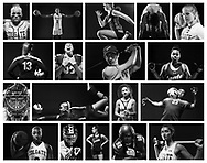 Student athletes in various sports pose for portraits April 23, 2019.
