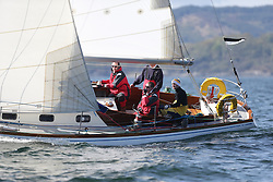 The Clyde Cruising Club's Scottish Series held on Loch Fyne by Tarbert. Day 2 racing in a perfect southerly<br /> <br /> GBR2496 , Valhalla of Ashton , Alan Dunnet , CCC , Swan 36