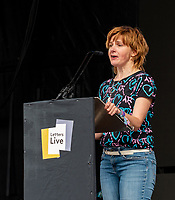 louise Brealey letters live at the  Wilderness Festival Cornbury Park Oxfordshire,photo by Mark Anton Smith