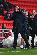 Grant McCann, Manager of Doncaster Rovers during the EFL Sky Bet League 1 match between Doncaster Rovers and Scunthorpe United at the Keepmoat Stadium, Doncaster, England on 15 December 2018.