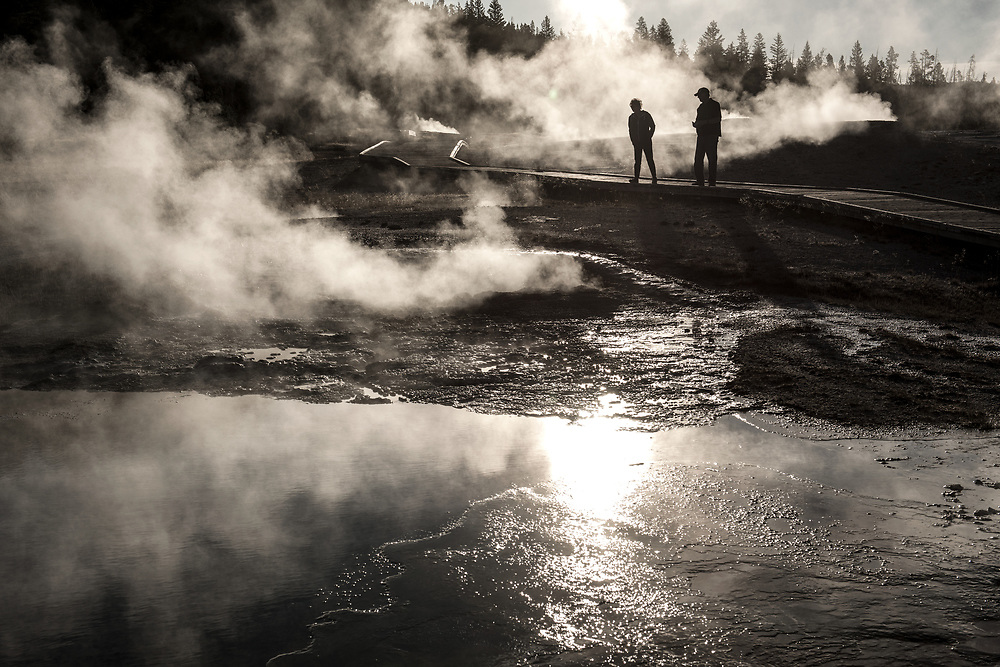 Geysers and Springs, Yellowstone National Park, Wyoming