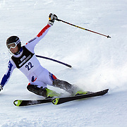 Alexander Khoroshilov, Russia, in action during the Men's Slalom event during the Winter Games at Cardrona, Wanaka, New Zealand, 24th August 2011. Photo Tim Clayton...