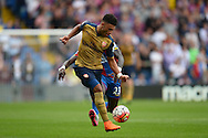 Alex Oxlade-Chamberlain of Arsenal in action. Barclays Premier league match, Crystal Palace v Arsenal at  Selhurst Park in London on Sunday 16th August 2015.<br /> pic by John Patrick Fletcher, Andrew Orchard sports photography.