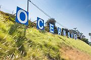 Oceanside Signage on a Hillside