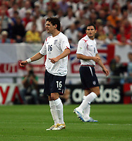 Photo: Chris Ratcliffe.<br /> England v Portugal. Quarter Finals, FIFA World Cup 2006. 01/07/2006.<br /> Frank Lampard and Owen hargreaves of England.