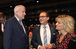 19.01.2019, Kleine Olympiahalle, Muenchen, GER, CSU Parteitag in München, im Bild Horst Seehofer und Alexander Dobrindt, und Daniela Ludwig // during the CSU party congress at the Kleine Olympiahalle in Muenchen, Germany on 2019/01/19. EXPA Pictures © 2019, PhotoCredit: EXPA/ SM<br /> <br /> *****ATTENTION - OUT of GER*****