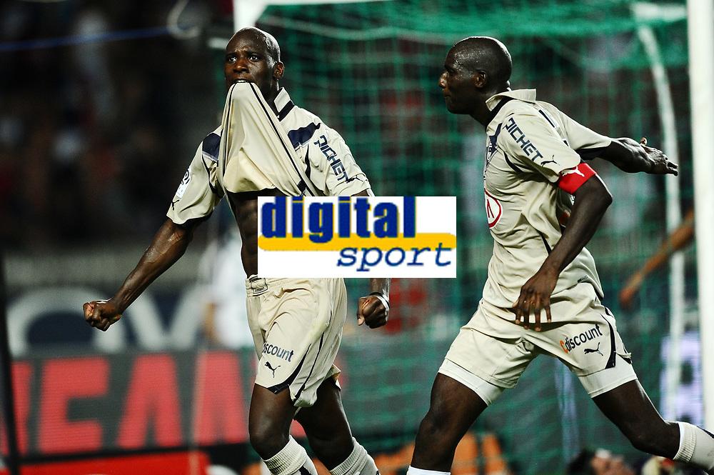 FOOTBALL - FRENCH CHAMPIONSHIP 2010/2011 - L1 - PARIS SG v GIRONDINS DE BORDEAUX - 22/08/2010 - PHOTO GUY JEFFROY / DPPI - JOY CIANI / ALOU DIARRA (BOR)