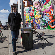 New York Mural painting on Houston street in Soho Manhattan. New York, - United states