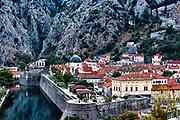 Fortified old town Kotor, Montenegro.
