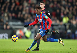 Crystal Palace's Wilfried Zaha during the Premier League match at Selhurst Park, London, Thursday 28th December 2017