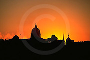 PA Capitol, Sunrise, Silhouette, Reflection, Susquehanna River, Harrisburg, PA