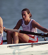 Barcelona, SPAIN.   GBR W4-. Suzanne KIRK ,  1992 Olympic Rowing Regatta Lake Banyoles, Catalonia [Mandatory Credit Peter Spurrier/ Intersport Images] Last time Men's coxed pair raced at the Olympics