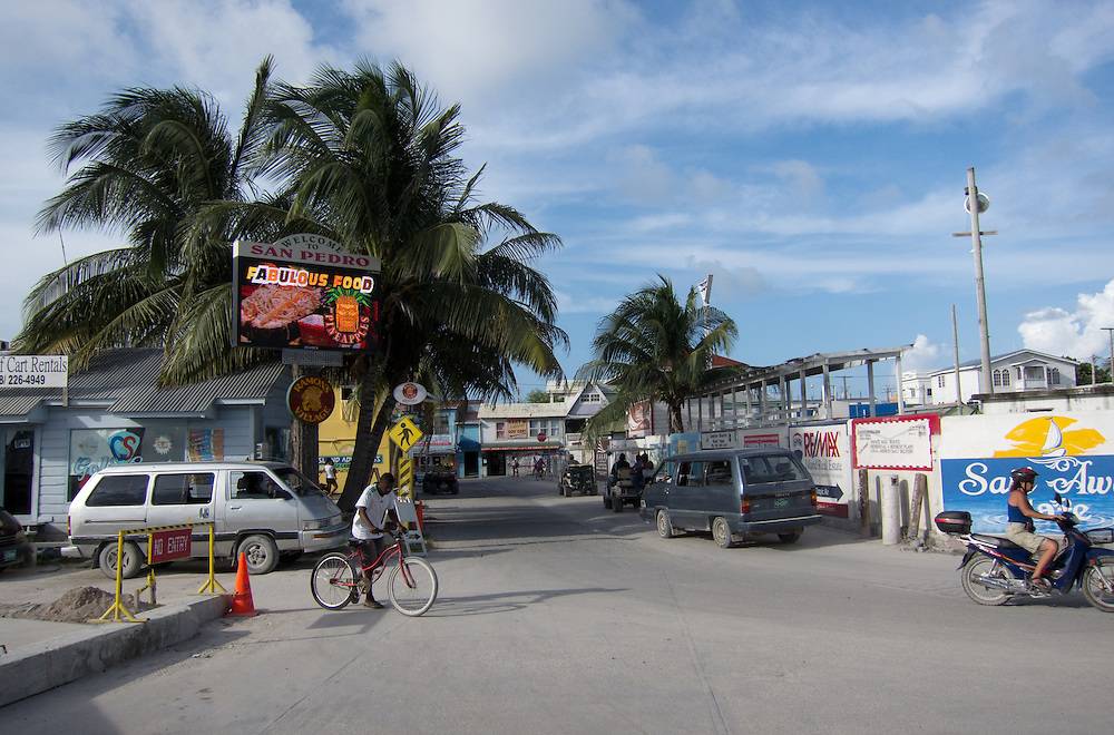 San Pedro, Belize 8/31/2012.The view out of the front door of the San Pedro Airport..Alex Jones / www.alexjonesphoto.com