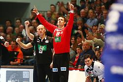 09.01.2015, Rothenbach Halle, Kassel, GER, Handball Testspiel, Deutschland vs Island, im Bild Torvon Carsten Lichtlein (Deutschland) auf der Bank // during the International Handball Friendly Match between Germany vs Iceland at the Rothenbach Halle in Kassel, Germany on 2015/01/09. EXPA Pictures © 2016, PhotoCredit: EXPA/ Eibner-Pressefoto/ Weiss<br /> <br /> *****ATTENTION - OUT of GER*****