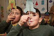 12/11/2018 Repro free: Galway Science and Technology Festival, the largest science event in Ireland, runs from 11-25 November featuring exciting talks, workshops and special events. Full programme at GalwayScience.ie. <br /> Eoin de Phriondagas and Tom de Bhaiís from Scoil Fhursa who learned all about rockets and force and wind power . Photo:Andrew Downes, Xposure.