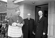 8/3/1965<br /> 3/8/1965<br /> 8 March 1965<br /> <br /> <br /> Cardinal Conway and Éamon de Valera at the opening of An Teanglann opening at Gormanstown College