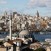 A general view from Istanbul, Turkey, Galata tower in the background. Photo by TURKPIX