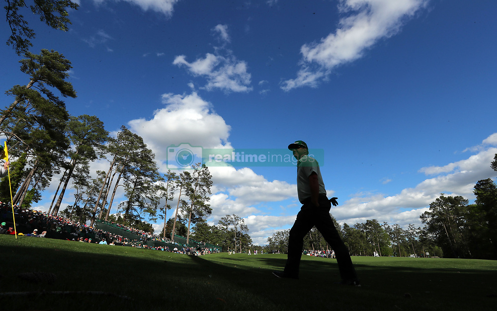 Charley Hoffman walks to the 14th tee after saving par on the 13th hole during first-round action of the Masters Tournament at Augusta National Golf Club on Thursday, April 6, 2017, in Augusta, Ga. Hoffman finished the round at -7. (Photo by Curtis Compton/Atlanta Journal-Constitution/TNS) *** Please Use Credit from Credit Field ***