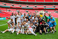 AFC Flyde celebrate winning the FA Trophy final match between AFC Flyde and Leyton Orient at Wembley Stadium on 19 May 2019.