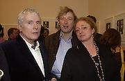 Glenn O'Brien, Willy Nickerson and Camilla Lowther. Warhol's World. Photography and Television. Hauser and Wirth. Piccadilly, London. 26  January 2006.  ONE TIME USE ONLY - DO NOT ARCHIVE  © Copyright Photograph by Dafydd Jones 66 Stockwell Park Rd. London SW9 0DA Tel 020 7733 0108 www.dafjones.com